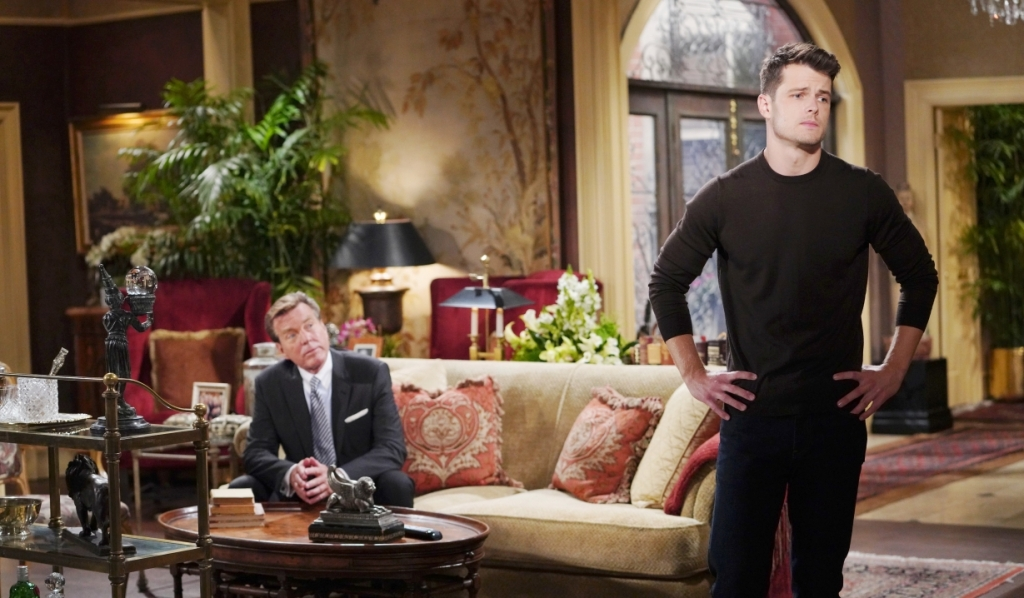Kyle and Jack discuss Tara's concerns at Abbott house Y&R