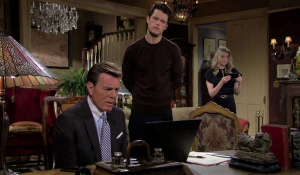 Jack, Kyle and Tara watch the livestream at Abbott house Y&R