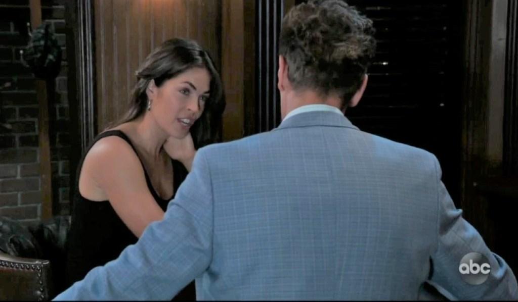 Jax and Britt discuss Jason at Charlie's General Hospital