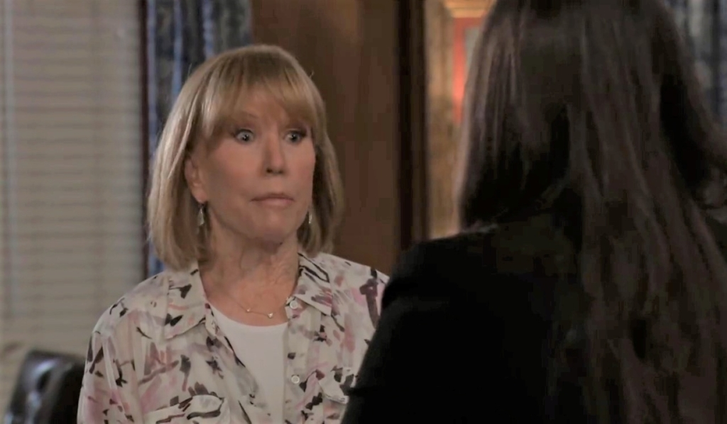 Monica worries to Brook Lynn about Maxie at Quartermaine estate General Hospital