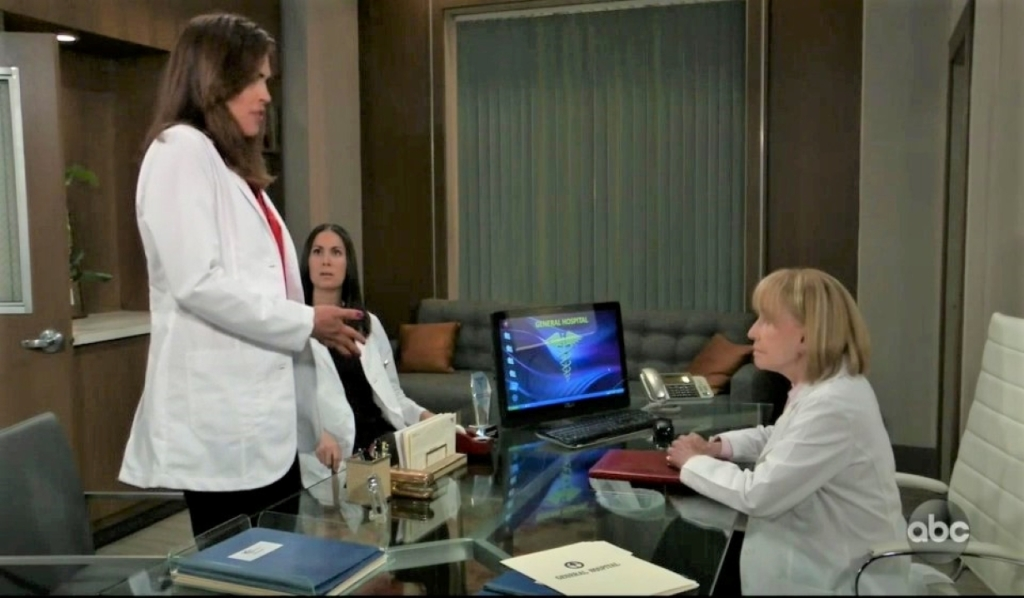 Monica announces her decision to Britt and Terry at General Hospital