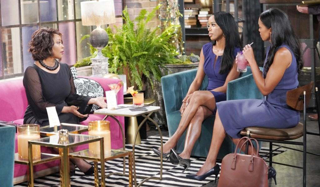 Naya talks recant to Imani and Amanda at Society Y&R
