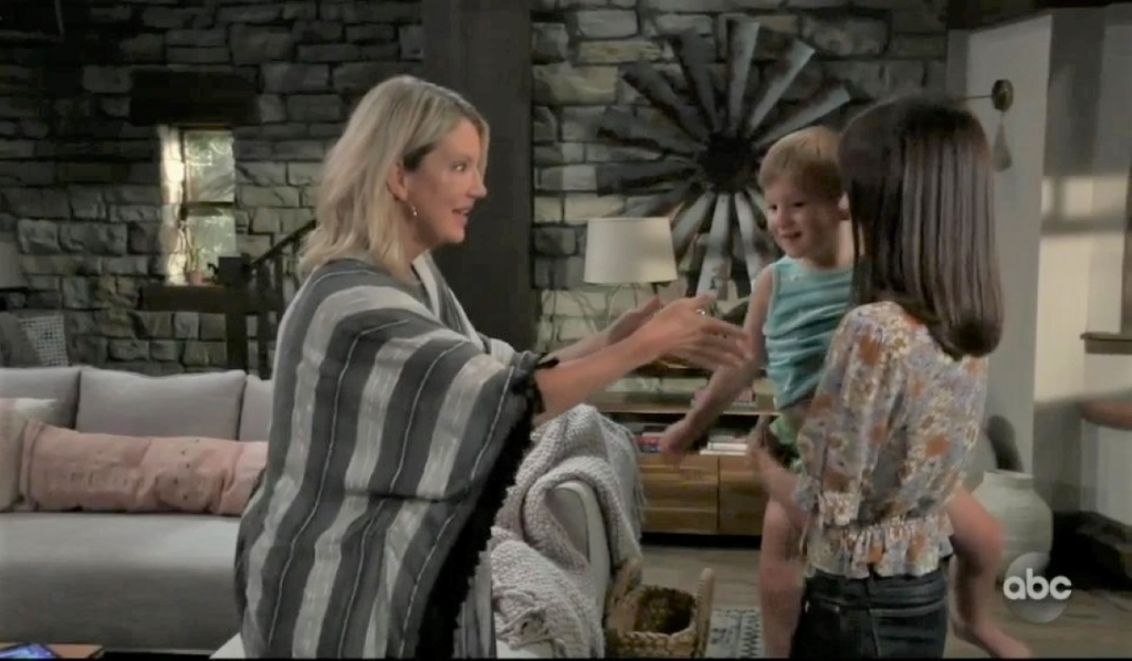 Nina spends time with Wiley and Willow at guesthouse General Hospital