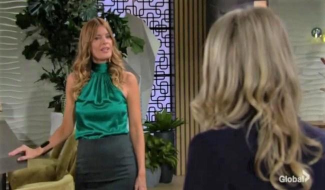 Phyllis apologizes to Tara at Grand Phoenix Y&R