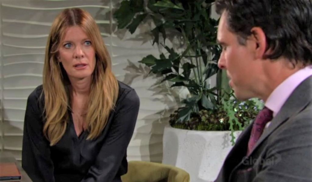 Phyllis and Billy discuss Summer at Grand Phoenix Y&R