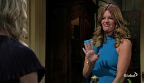 Phyllis and Tara talk at Abbott estate Y&R