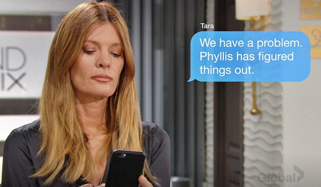 Phyllis text Tara Y&R