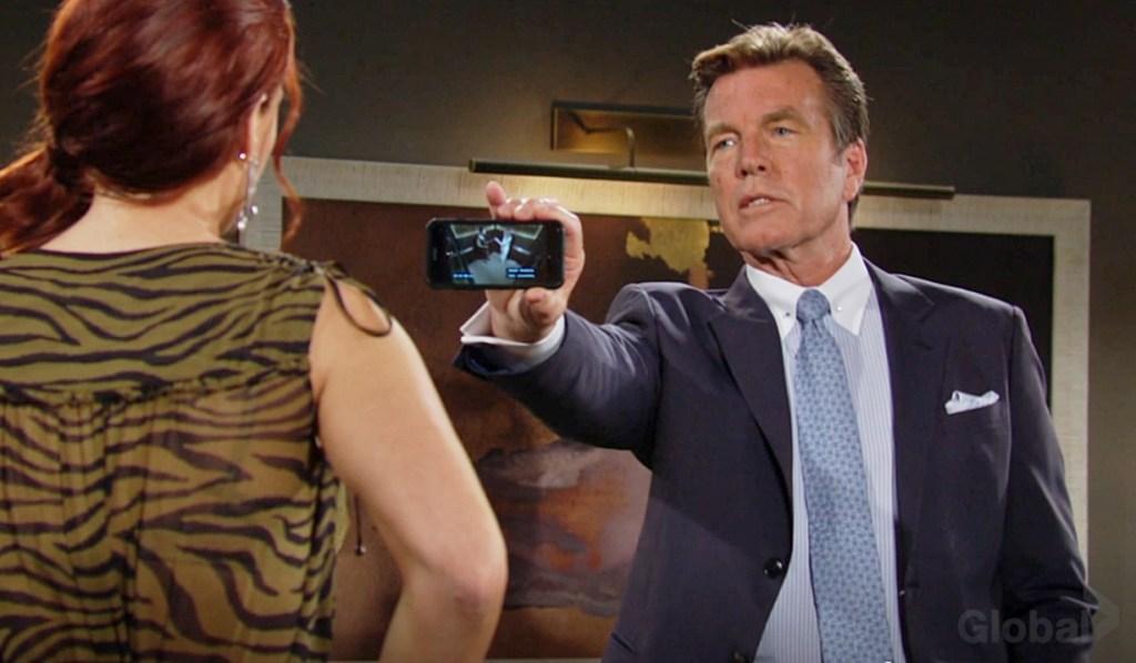 Sally, Jack shows video Y&R