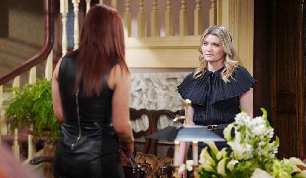 Sally warns Tara at Abbott house Y&R