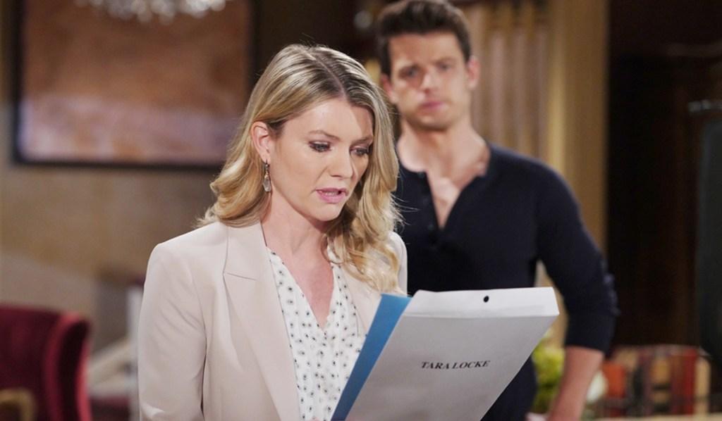 Tara, Kyle paperwork Y&R