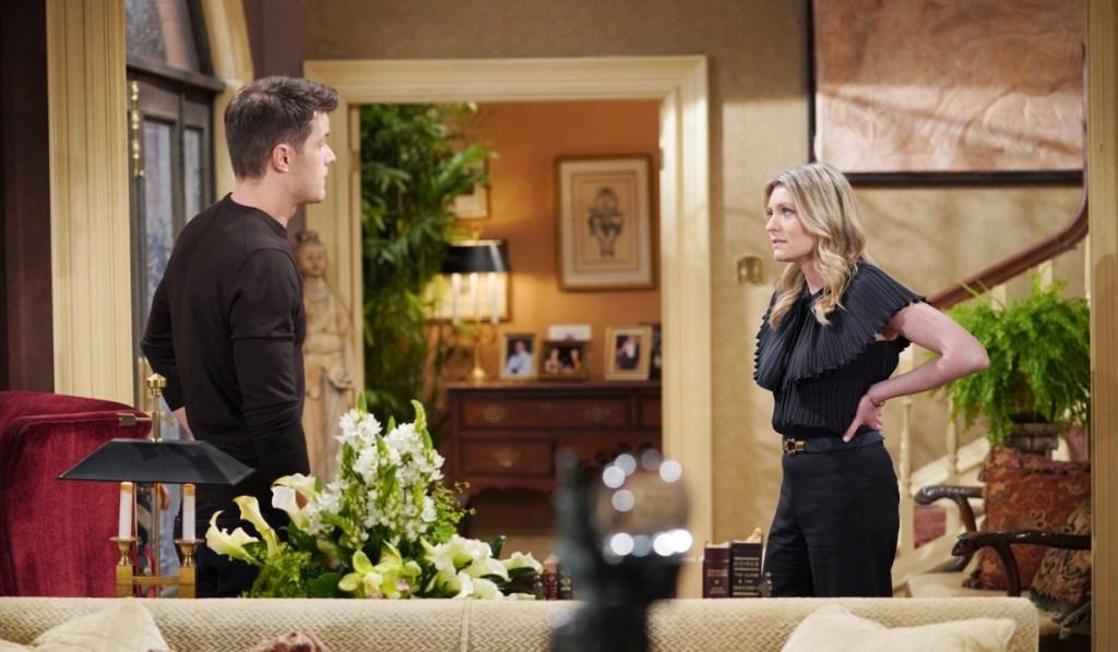 Tara and Kyle discuss Harrison at Abbott house Y&R