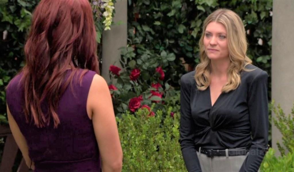 Tara and Sally discuss Ashland video in park Y&R