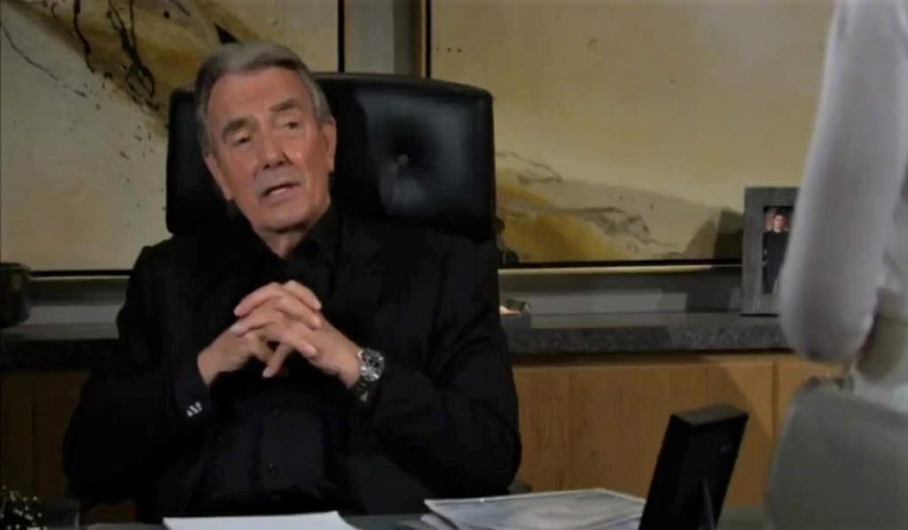 Victor listens to Amanda in office Y&R