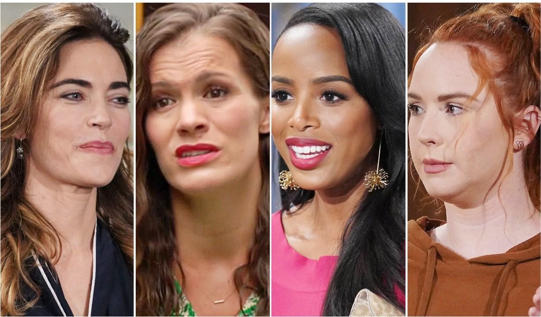 Victoria, Chelsea, Imani, Mariah Y&R