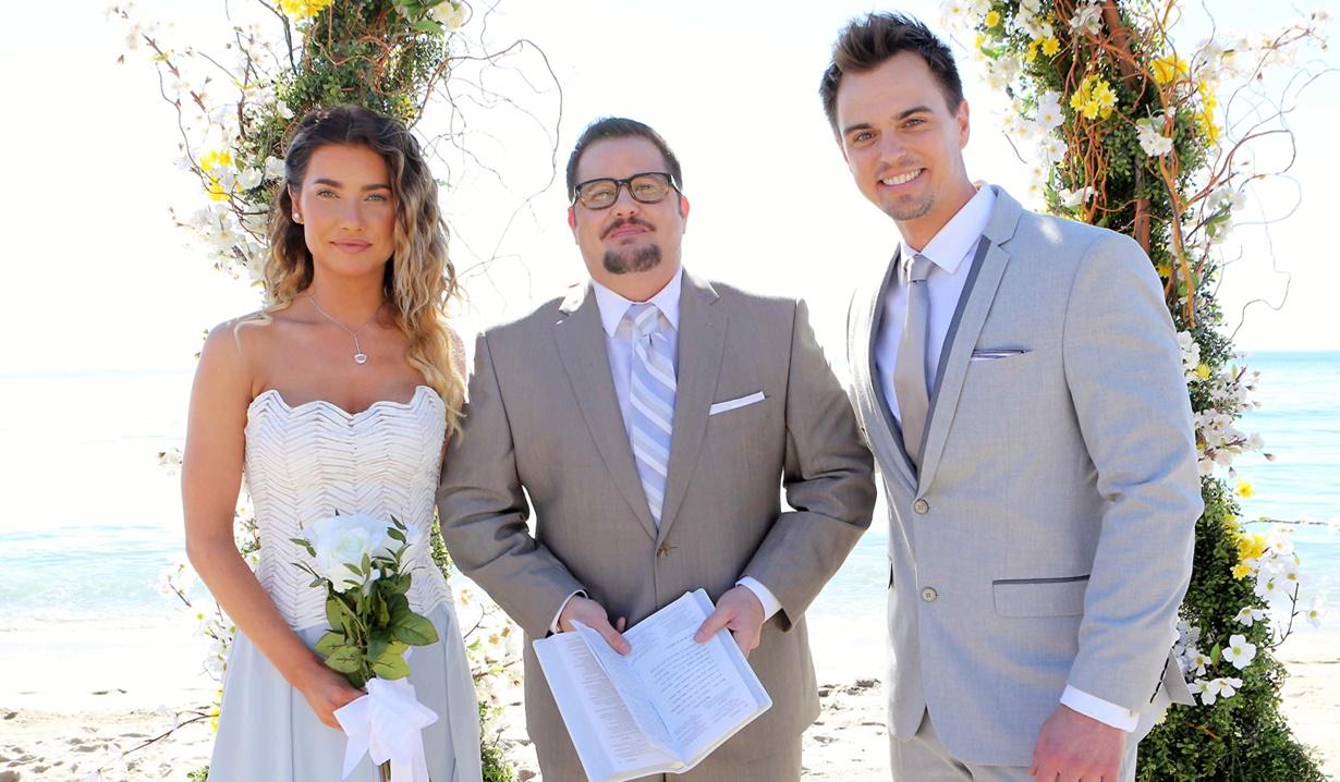 Steffy, Chaz Bono, Wyatt wedding B&B