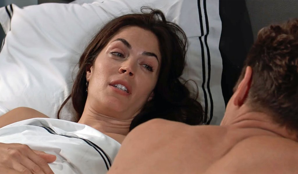 Britt and Jax in bed GH