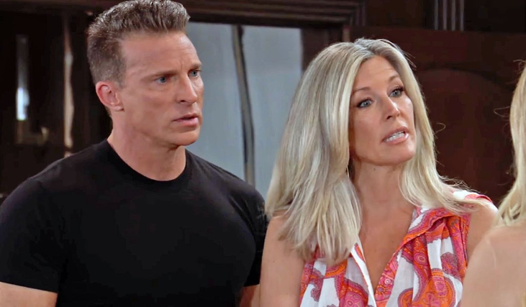 Carly and Jason share news with Joss GH