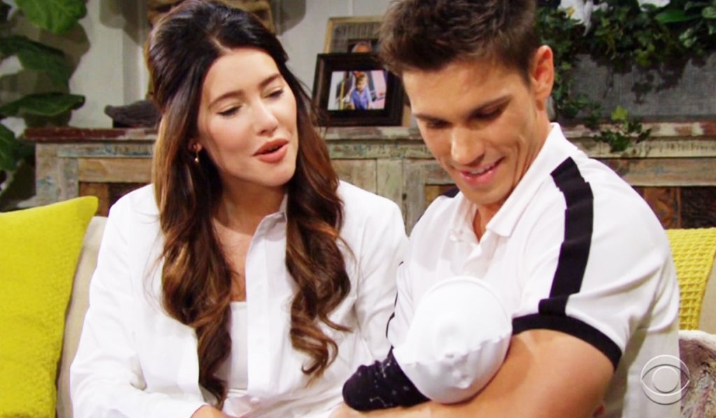 finn and steffy talk to hayes bb