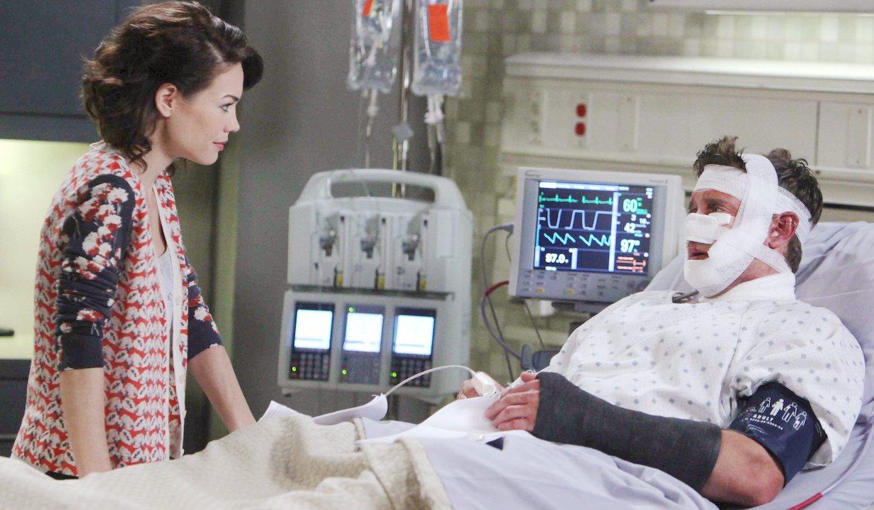 "Billy Miller, Rebecca Herbst""General Hospital"" Set The Prospect StudiosABC Studios09/11/14© Howard Wise/jpistudios.com310-657-9661Episode # 13154U.S. Airdate 10/07/14"