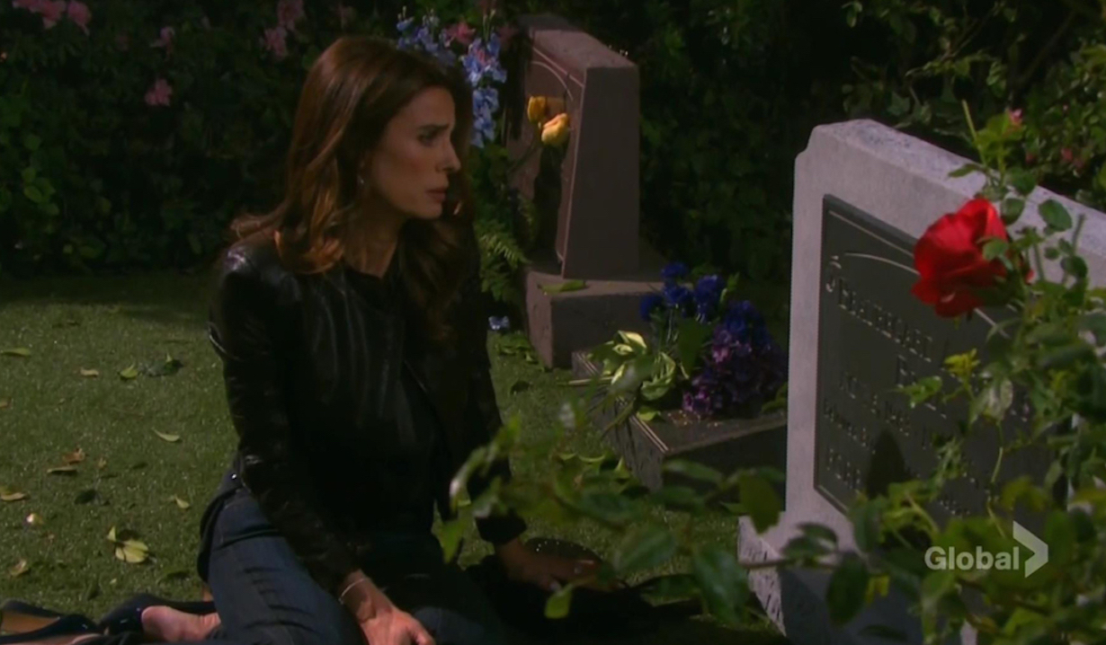 Hope visits Bo's grave Days of our Lives
