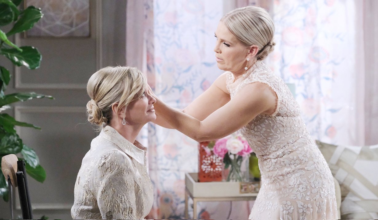 Jenn helps Kayla pre-wedding Days of our Lives