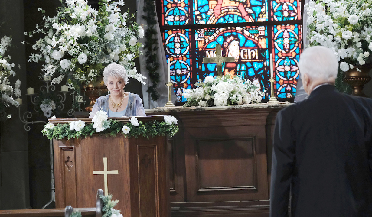 Julie Williams practices before Cin wedding Days of our Lives