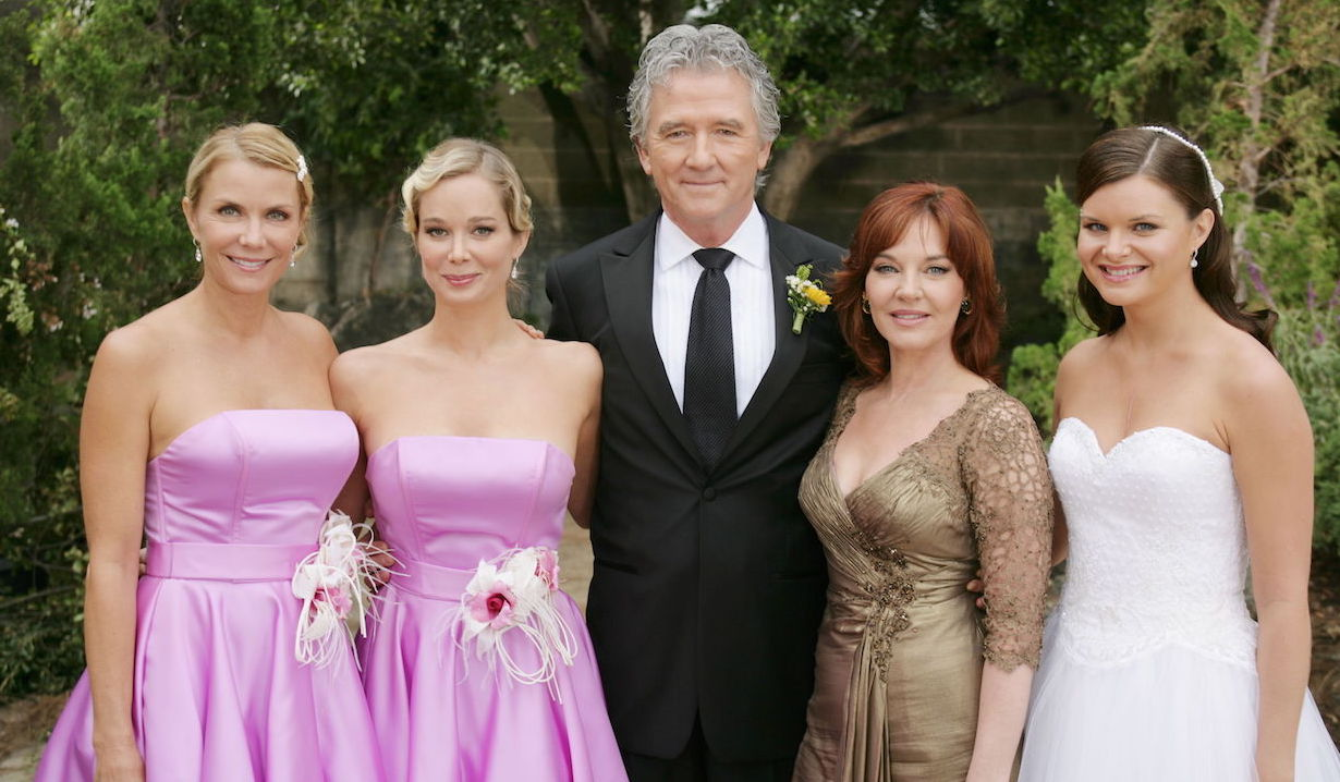 "Heather Tom, Katherine Kelly Lang, Jennifer Gareis, Patrick Duffy, Robin Riker""The Bold and the Beautiful"" Set LocationCBS Radford StudiosLos Angeles10/12/09©John Paschal/jpistudios.com310-657-9661"