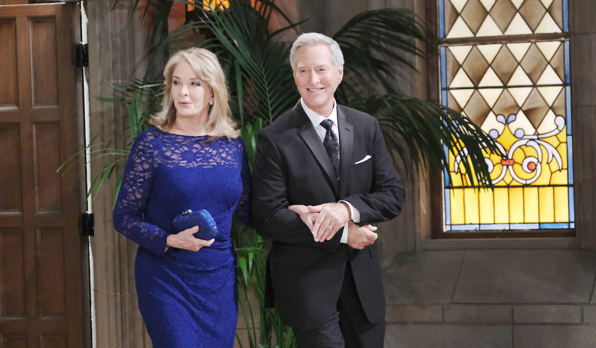 John Black and Marlena Evans arrives for Cin wedding Days of our Lives