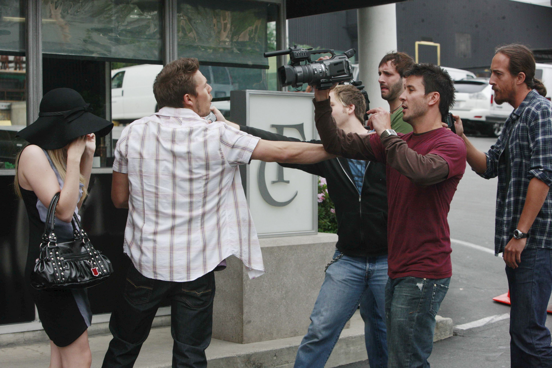 "Kimberly Matula, Scott Clifton ""The Bold and the Beautiful"" Set CBS Television City Los Angeles 7/7/10 ©sean smith/jpistudios.com 310-657-9661 Episode # 5882 U.S.Airdate 8/17/10"