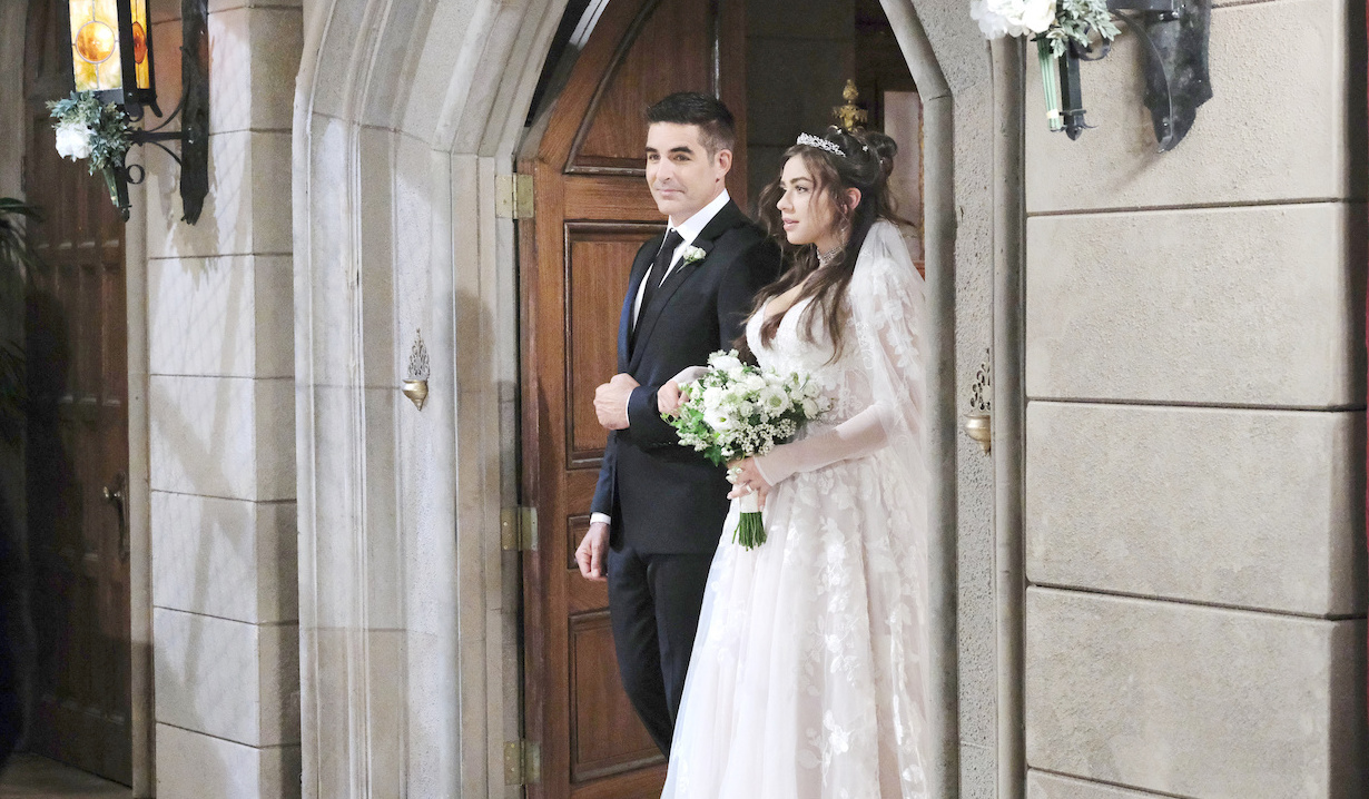 Rafe Hernandez walks Ciara Brady down the aisle on Days of our Lives