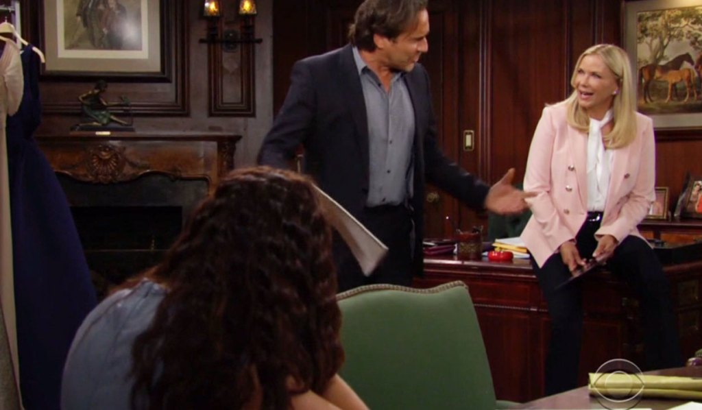 ridge gushes to katie and brooke about hayes bb