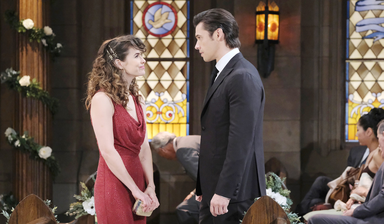 Sarah Horton and Xander Kiriakis before Cin wedding Days of our Lives