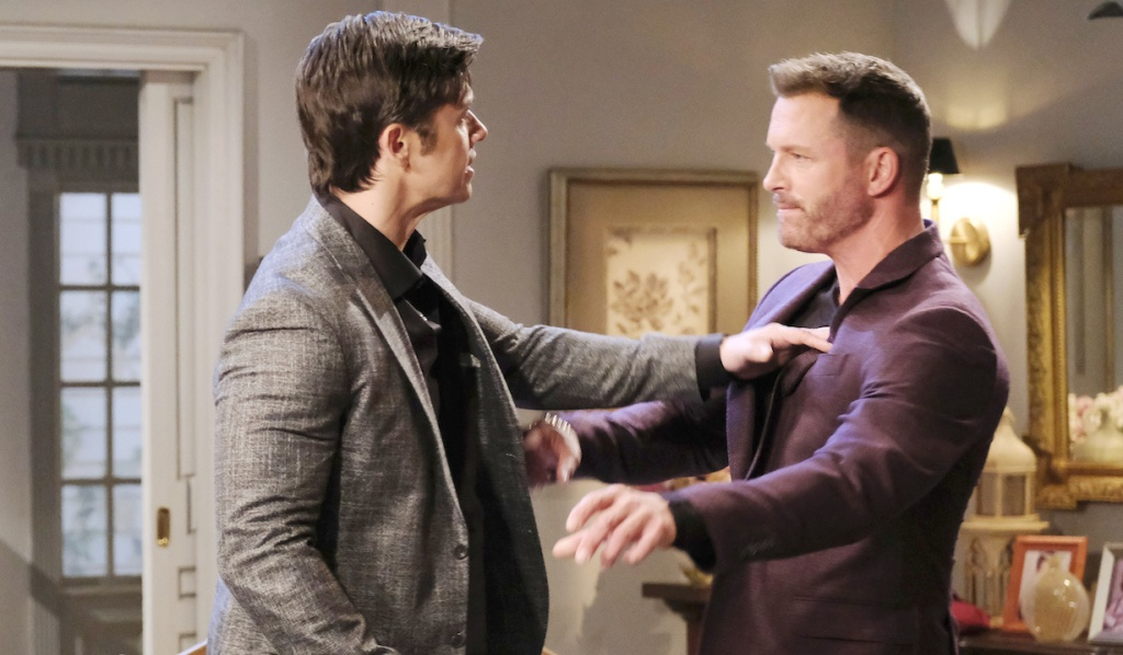 Xander and Brady get into an altercation on Days of Our Lives