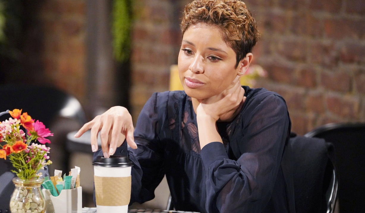 """elena coffee Brytini Sarpy""""The Young and the Restless"""" Set CBS television CityLos Angeles02/10/21© Howard Wise/jpistudios.com310-657-9661Episode # 12068U.S. Airdate 03/16/21"""