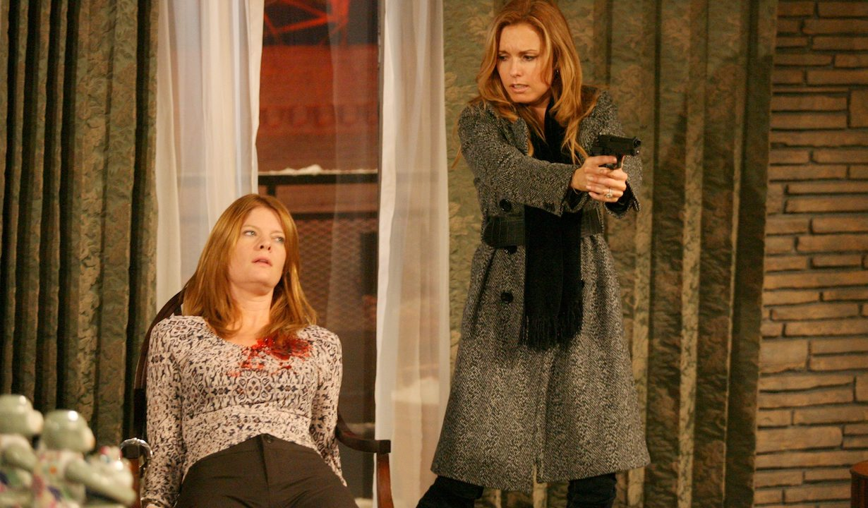 """sheila phyllis lauren Michelle Stafford, Tracey Bregman""""The Young and the Restless"""" SetCBS Television CityLos Angeles1/4/07©Aaron Montgomery/jpistudios.com310-657-9661Episode #8576"""