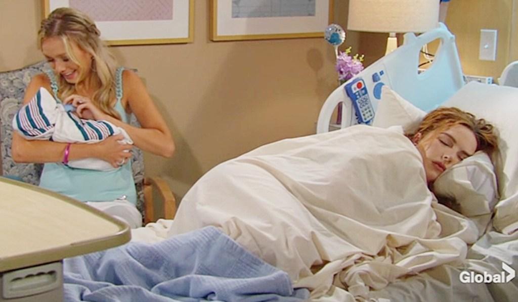 Abby feed baby Mariah sleep Y&R