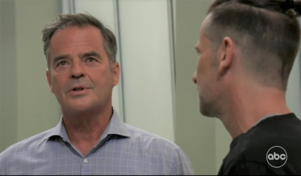 Austin and Ned debate the lawsuit at General Hospital