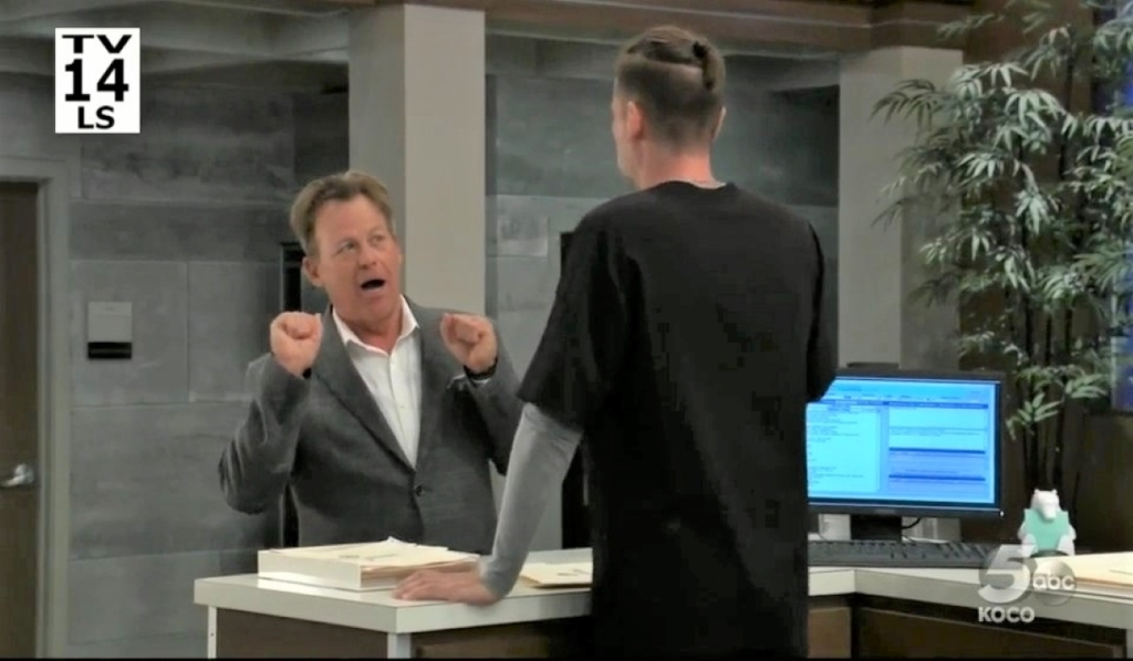 Scott and Austin discuss his case at General Hospital