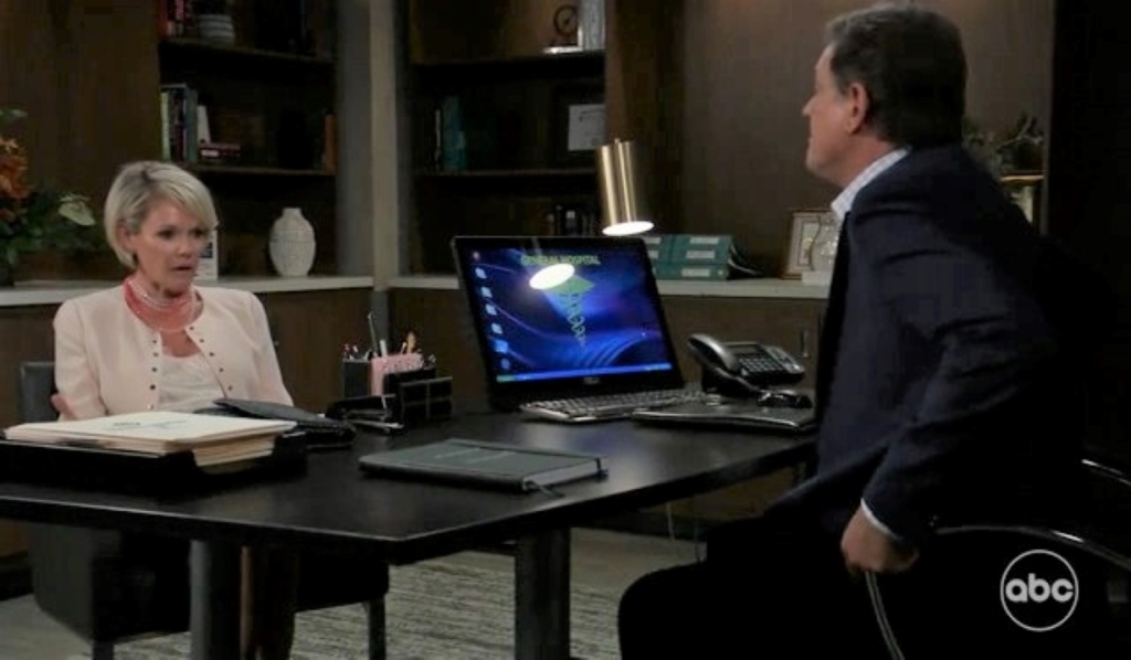 Kevin and Ava discuss Spencer at General Hospital