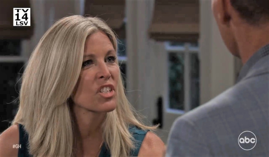 Carly argues with Jax in kitchen General Hospital