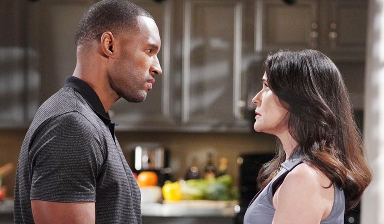 Carter, Quinn intense moment B&B