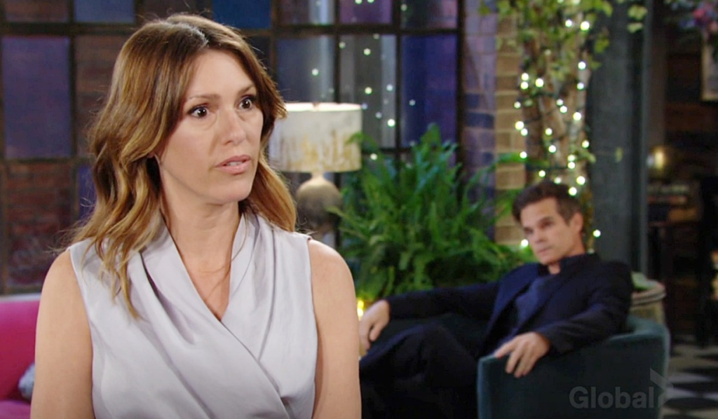 Chloe confront Adam and Sally, Kevin watch Y&R