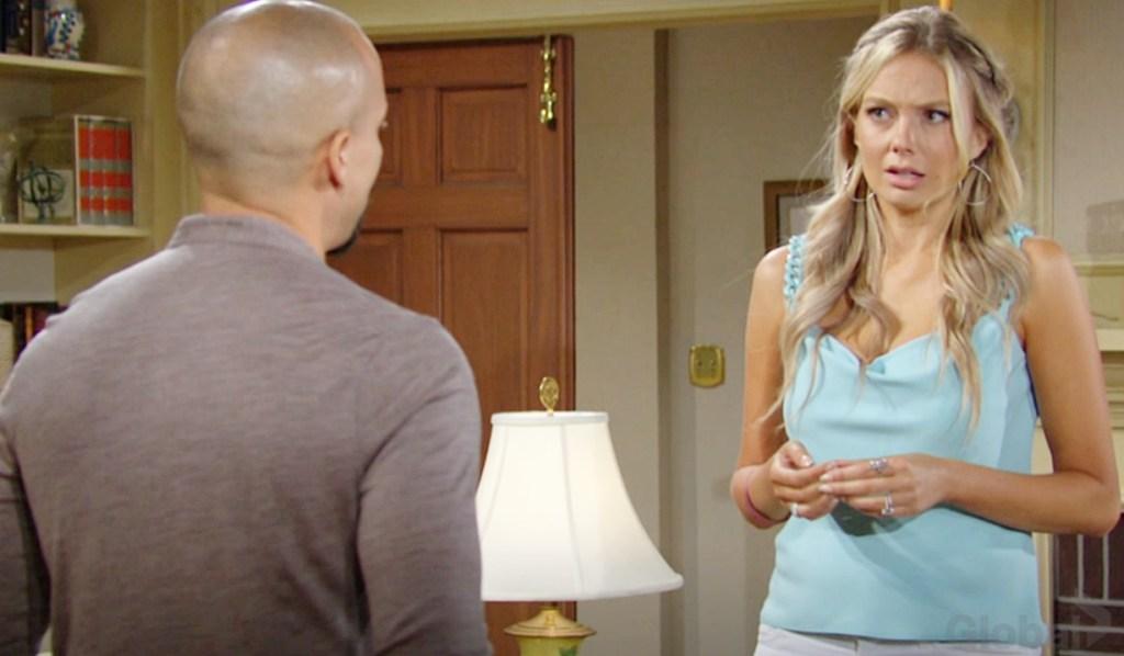 Devon, Abby suspicions Y&R