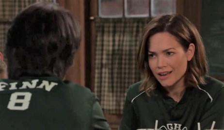 Finn and Liz talk Naomi at Kelly's General Hospital