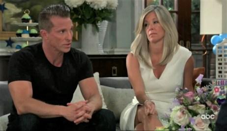 Jason and Carly tell Harmony story to Valentin at Quartermaine estate General Hospital