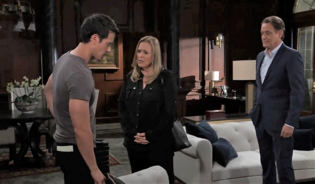Laura and Kevin question Nikolas at Wyndemere General Hospital