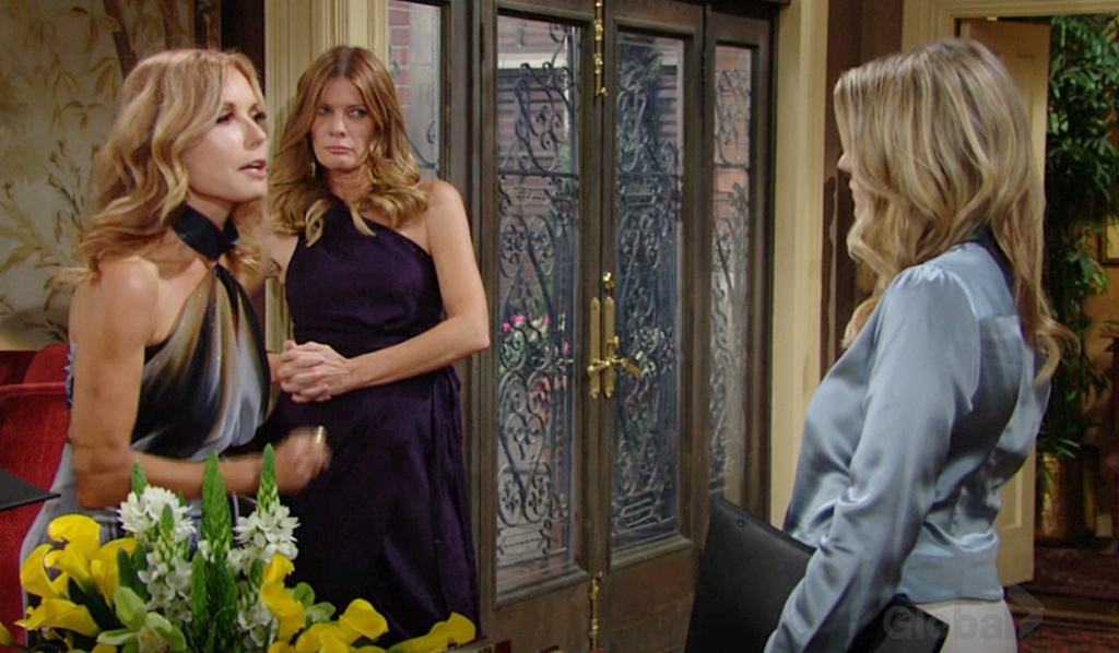 Lauren, Phyllis, Tara confrontation Y&R
