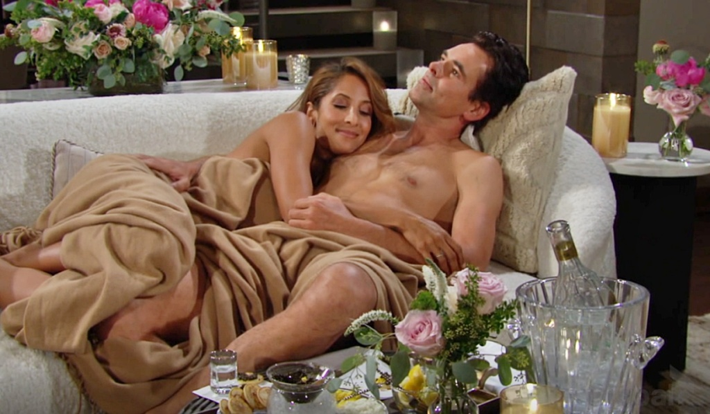Lily, Billy after sex Y&R