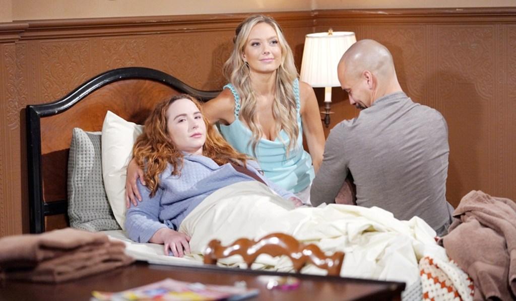 Mariah, Abby, Devon, baby Y&R