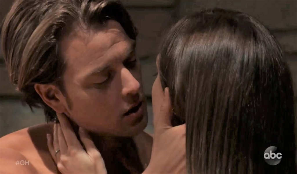 Michael and Willow make out in guest house General Hospital